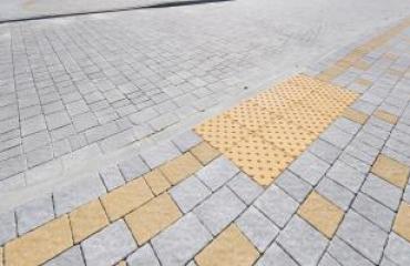 Тротуарна плитка Квадрат тактильний Б